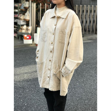 """unknown"" linen jacket 生成り 表記2XL"