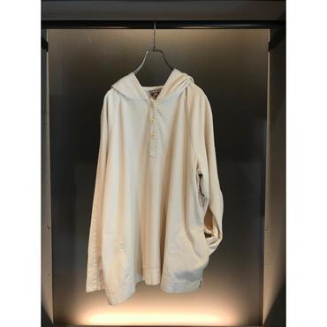 90s corduroy hoodie ホワイト 表記L