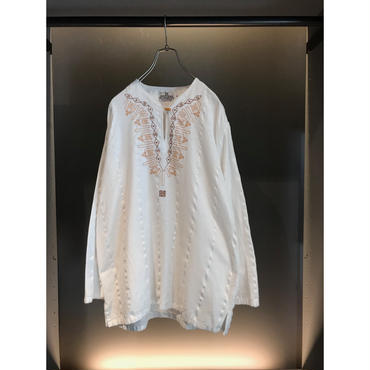 """GIVENCHY"" embroidery cotton cut sew ホワイト 表記L"