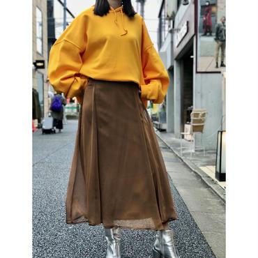 vintage poly flare skirt ブラウンゴールド カナダ製