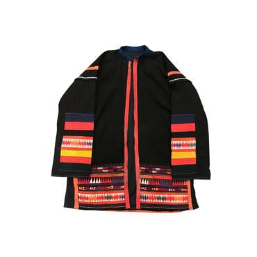 """""""アカ族"""" vintage ethnic jacket ブラック"""