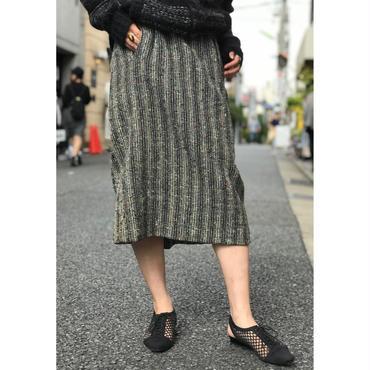 50s wool skirt ブラック×ホワイトネップ