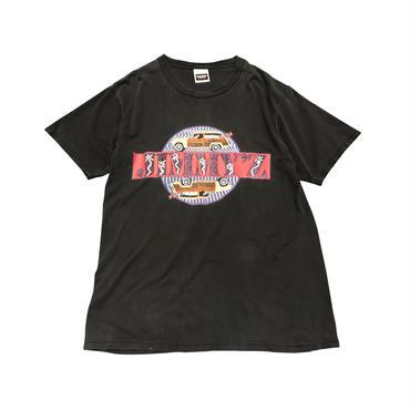 """ZIMMY'Z"" print t-shirt ブラック 表記L USA製"