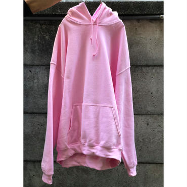 00s oversized sweat hoodie ピンク