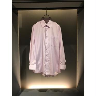 """BALENCIAGA"" L/S stripe shirt ピンクパープル"
