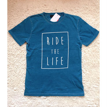 メンズ RIDE THE LIFEロゴ Tシャツ