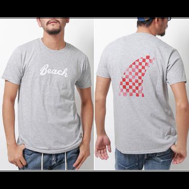 メンズFRUIT OF THE LOOM チェッカーフラッグ柄フィンTシャツ