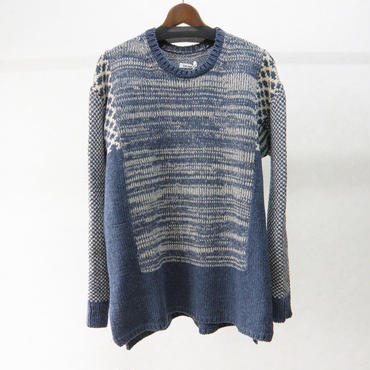 YEAH RIGHT!! BORO KNIT P/O(NAVY)