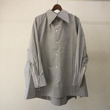 BALMUNG ジップカフスビッグシャツ(灰)