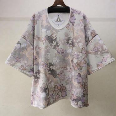 BALMUNG グラフィックジャージービッグTシャツ(ペールグリーン)