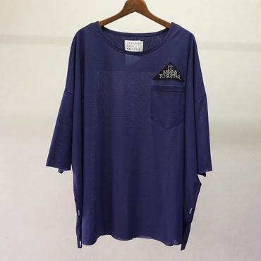 JUVENILE HALL ROLLCALL ボーダービッグTシャツ(NAVY)