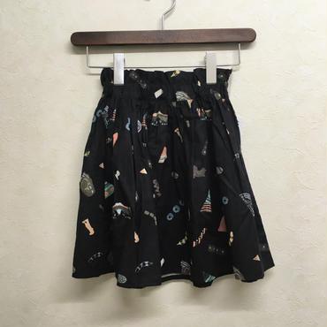 bedsidedrama × frankygrow エニーピースギャザースカート(BLACK)