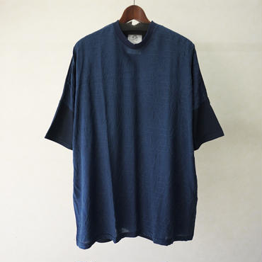 stof アーミッシュ刺繍Tシャツ(BLUE)