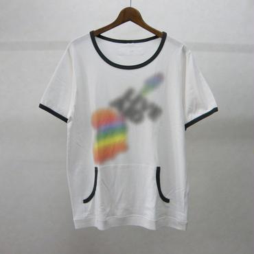 gilet カンガルーポケットTシャツ(チャコール)
