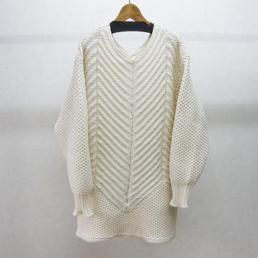 YEAH RIGHT!! THICK SLANTING KNIT P/O