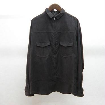 ato プルオーバースウェードシャツ(DARK BROWN)
