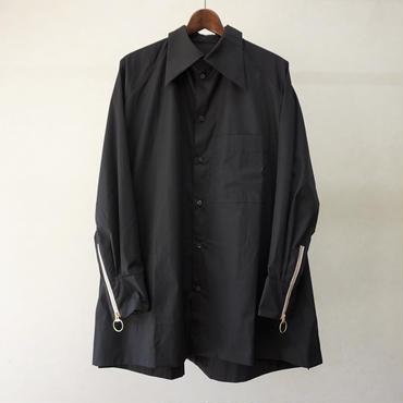BALMUNG ジップカフスビッグシャツ(黒)