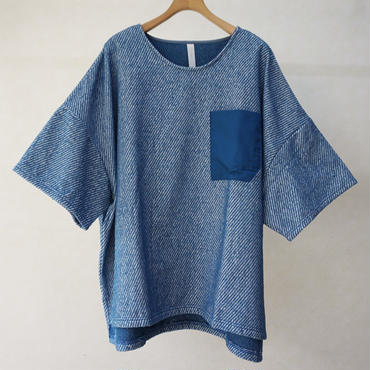 sneeuw パイルプルオーバー(blue)