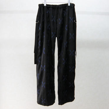 SHIROMA embroidery suede pants