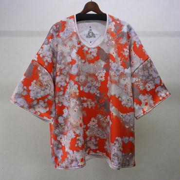 BALMUNG グラフィックジャージービッグTシャツ(オレンジ)