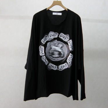 BALMUNG プリントビッグTシャツ(黒・SHITちゃん)