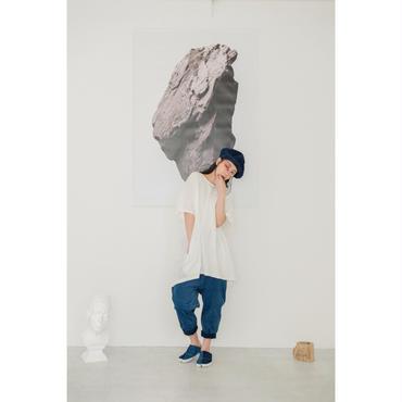 STORAMA キャンバスパネルワイドTシャツ(WHITE)