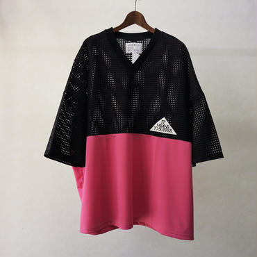 JUVENILE HALL ROLLCALL メッシュビッグT (PINK)
