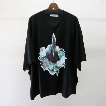 BALMUNG プリントビッグTシャツ 半袖(黒・律音)