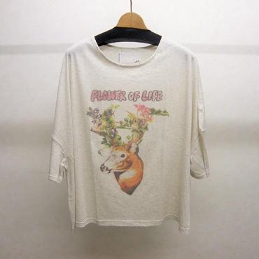 bedsidedrama F/O/L ワイドTシャツ(white)
