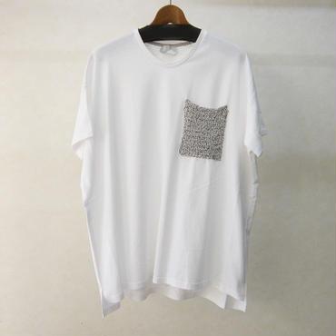 sneeuw ニットポケットTシャツ(white)
