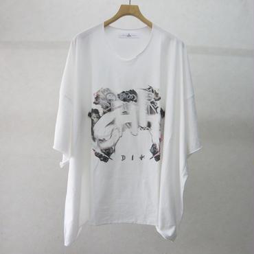 BALMUNG プリントビッグTシャツ半袖(白・GRAFFITI)