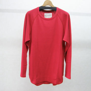 banal chic bizarre ワッフルロングシャツ(red)