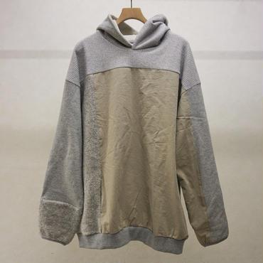 sneuuw パネルパーカー(grey)
