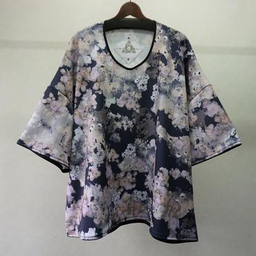 BALMUNG グラフィックジャージービッグTシャツ(ネイビー)