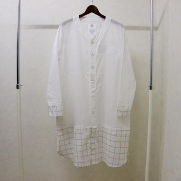 stof レイヤードロングシャツ(白)