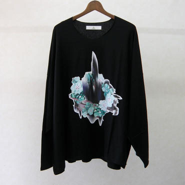 BALMUNG プリントビッグTシャツ 長袖(黒)