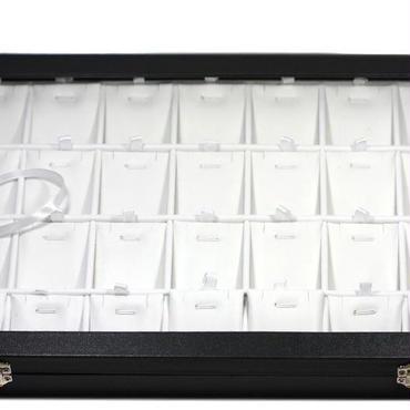 【ディスプレイ用品】ペンダント・ピアス・イヤリングコレクションケース〜35×24cm 4×7升〜
