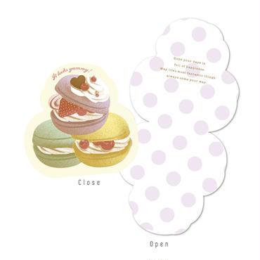 メッセージカード SWEETS BOX パープル/マカロン