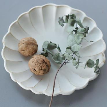 lefz-w-002 キナリ鎬フラワーシェイプ シリーズ 中皿