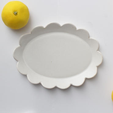 lefz-au-04  rinka オーバル皿(シロ)