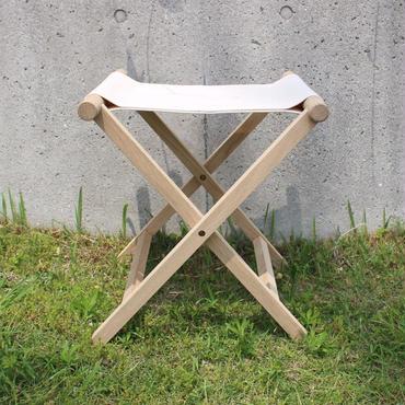 lefz-sk-01 帆布折りたたみ椅子ホワイト