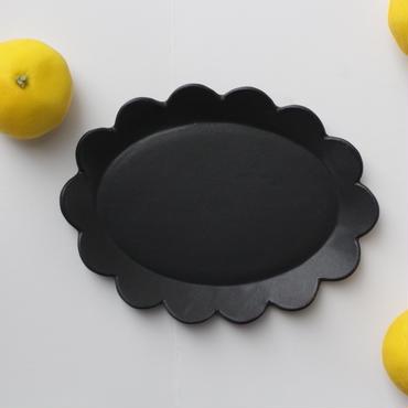 lefz-au-05  rinkaオーバル皿(クロ)