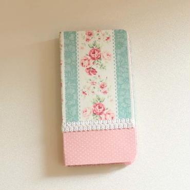 ハンドメイド iphoneケース FL-007×薄ピンクドット