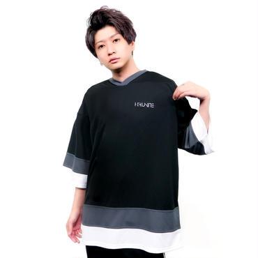[ホッケーシャツ]HFU -Geometry logo-  刺繍Hockey shirts
