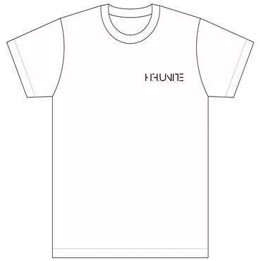 [Tシャツ]HFU -Geometry logo-  White T-shirts