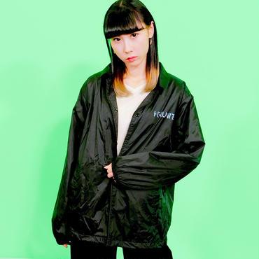 [コーチジャケット]HFU -Geometry logo-  Black Coach Jacket