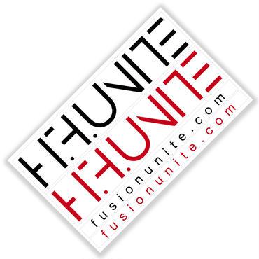 [クリアステッカー]HFU -Geometry logo-  Clear Sticker