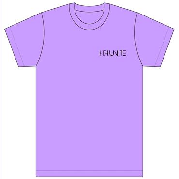 [Tシャツ]HFU -Geometry logo-  Light Purple T-Shirts