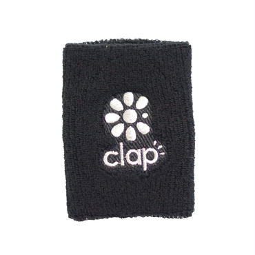 (CLAP)  WRIST  BAND ブラック/シルバー