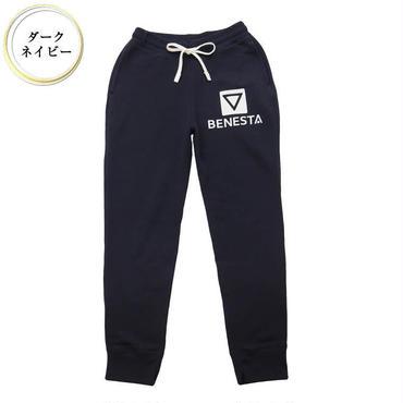 (BENESTA)  point  logo  sweat  pants ダークネイビー